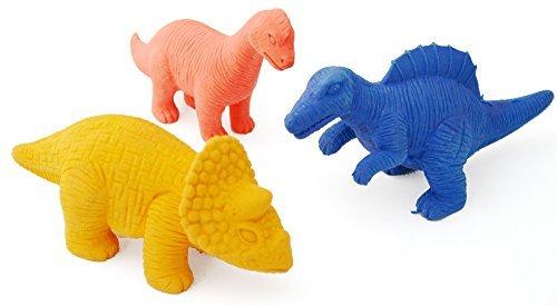 Grande figurine en forme de dinosaure en caoutchouc, gomme 11 cm-La couleur peut varier -