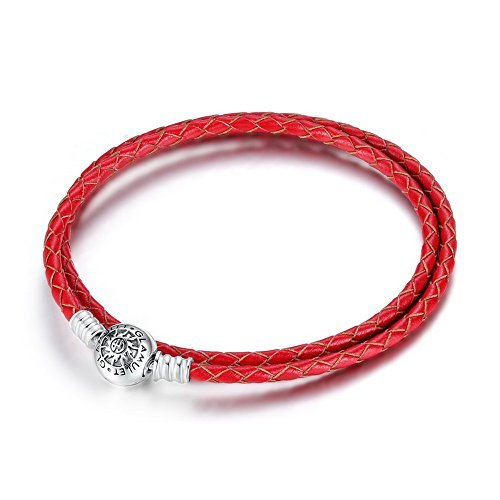 glamulet-double-red-leather-charm-925-sterling-silver-bracelet-fits-pandora-chamilia-35cm-by-glamule