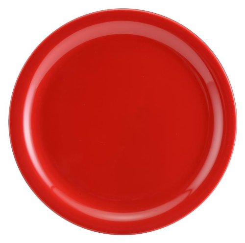 Servewell Round Side Plate Set, 19cm, Set of 6, Red