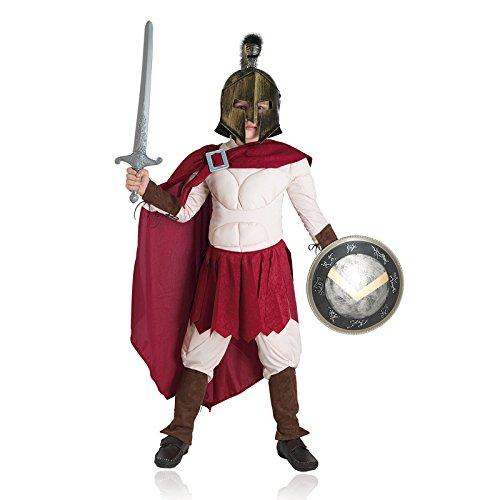 Aptafêtes-cs08906/6-Disfraz de Rey de Esparta-Talla 6años