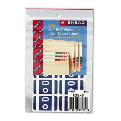 Alpha-Z Color-Coded Second Letter Labels, Letter O, Dark Blue, 100/Pack, Sold as 1 Package