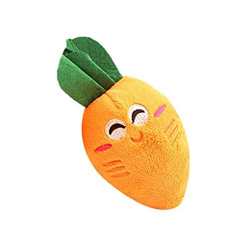 Morza Pet Molar-Ton-Spielzeug Mini-Plüsch-Karotte Chewing Spielzeug Zähne Trainer Lustige Interactive Molar-Stick - Hund Sound-trainer