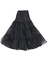 "1950's 60's Black Petticoat Crinoline Underskirt Rock and Roll Skirt 27"""