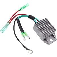 Homyl 1 Unid Receptor de Regulador de Voltaje Repuesto para Barco Facíl Instalar - Plata 40hp 2 Strokes