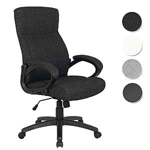 sixbros b rostuhl chefsessel drehstuhl schreibtischstuhl stoff schwarz hlc 0311 1 2166. Black Bedroom Furniture Sets. Home Design Ideas