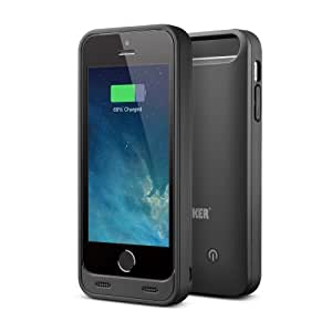 Anker® 2400mAh MFI Apple Certified Rubber-Feel Premium Rechargeable Extended Battery Case for iPhone 5s, 5 [18-Month Warranty]