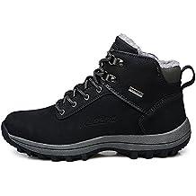 ZOEASHLEY Herren Winterschuhe Wasserdicht Trekking Wanderschuhe Warm Gefütterte Outdoor Sneaker Boots
