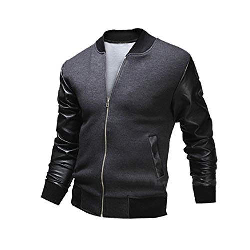 7bac0e74d21 Yaoaoesn WY03 PU Leather Long Sleeve Men Jacket Casual Winter Men Coats  Comfortable Male Outwear Universal