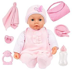 Bayer Design- Muñeco bebé, Piccolina Magic Eyes, con Accesorios, 46 cm, Color Rosa (94694AD)