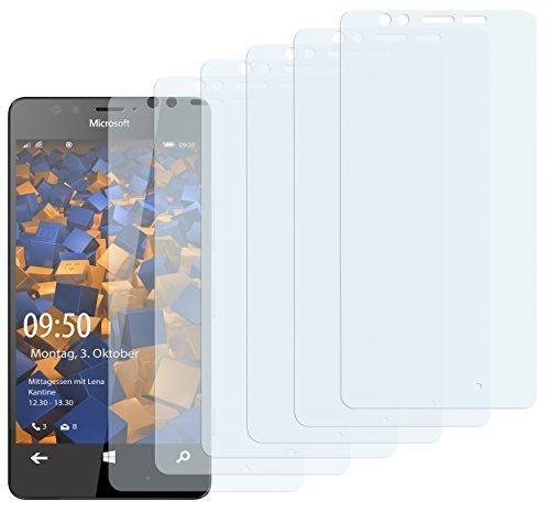 mumbi Schutzfolie kompatibel mit Microsoft Lumia 950 Folie klar, Bildschirmschutzfolie (6x)
