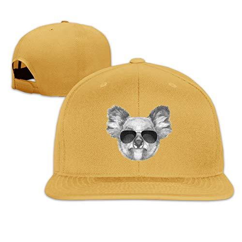 Osmykqe Koala Sunglasses Men's Cap Summer Baseball Caps Snapback Hat Lightweight Soft Cotton Flat Cap