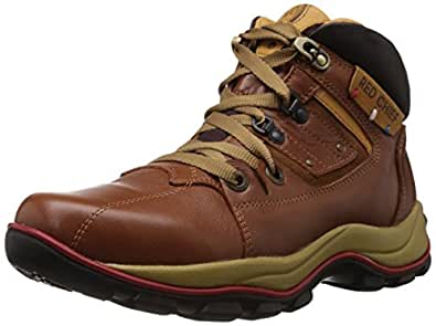 Redchief Men's Glossy Tan Leather Trekking and Hiking Footwear Boots - 10 UK (RC2025 287)