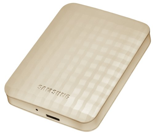 Samsung HX-M101UAE M2 Portable 1TB externe Festplatte (6,3 cm (2,5 Zoll), 5400 rpm, 12 ms, 8MB Cache, USB 2.0) noble beige