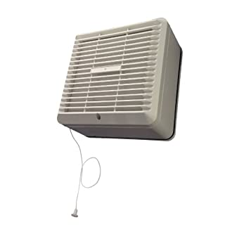 Manrose Primeline PEF6130 Window Extractor Fan with Pullcord & Automatic Shutter