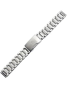 Uhrenarmband 16mm Edelstahl silber - hochwertige Qualität - inkl. Wechselanstoß 18mm - Metallband für Armbanduhren...
