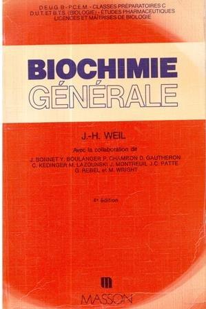 Biochimie générale : DEUG B, P.C.E.M., licences et maîtrises... DUT et B.T.S