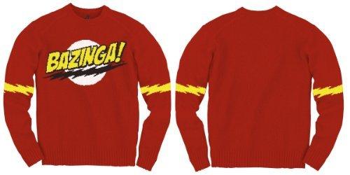 Ripple Junction Big Bang Theory Bazinga Strickpullover (Large) (Big Bang Theory Kostüm)