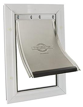 PetSafe - Chatière Staywell Moyenne Robuste en Aluminium pour Chien avec Système de verrouillage (3x27,8x40cm) - Facile à Installer, Isolante, Battant Souple et aimanté, S / M / L / XL