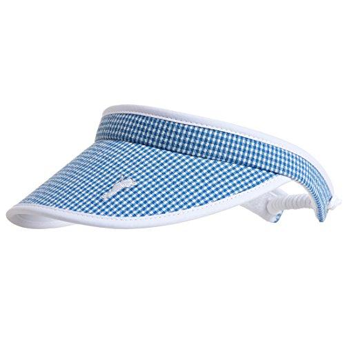 golfino-visiere-de-golf-avec-motif-a-carreaux-moderne-bleu