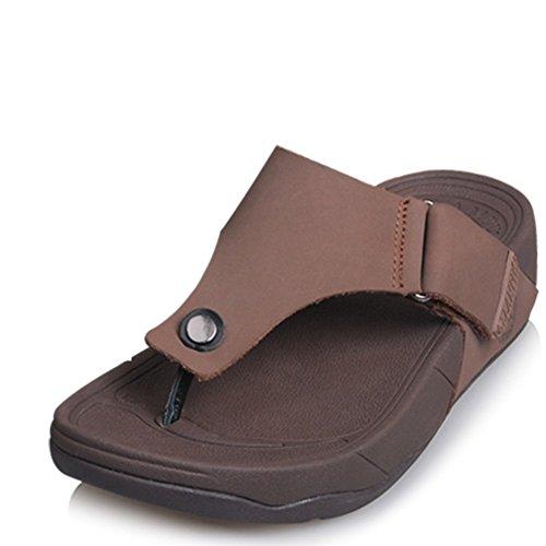 Sandales de plage occasionnelles pour les printemps et l'été/Sandales en cuir épais B