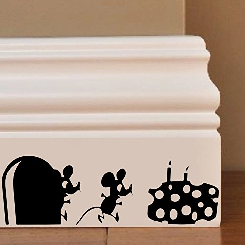 Maus Happy Birthday Wandkunst Aufkleber Decal Mice Home Skirting Board Komisch by Inspired Walls®