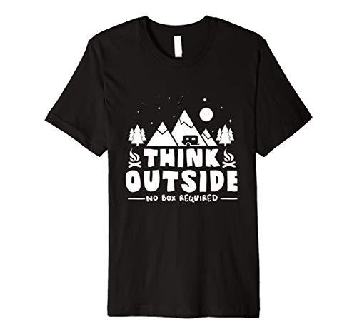 Think outside keine Box erforderlich Funny TShirt Design - Think Green T-shirt