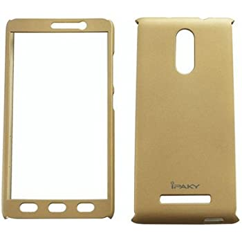CEDO® 360 Degree Full Body Protection Front & Back Case Cover (iPaky Style) with Tempered Glass for Xiaomi Redmi Note 3 (Gold)