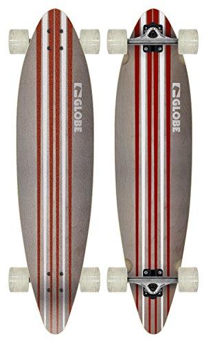 Globe Longboard Pinner Cruiser, Bianco (White/red), 104 x 25 x 12 cm