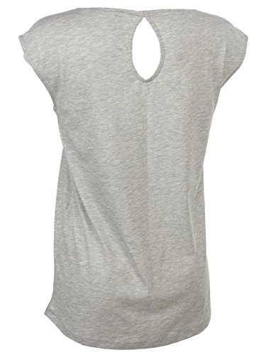Only - Print grc mc tee l - Tee shirt sans manches Gris chiné