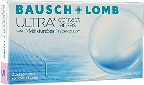 Bausch + Lomb Ultra Contact lenses with Moisture Seal technology Monatslinsen weich, 3 Stück / BC 8.5 mm / DIA 14.2 mm / -3.75 Dioptrien