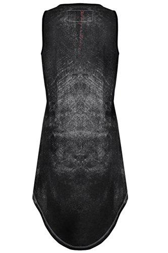 trueprodigy Casual Damen Marken T-Shirt mit Aufdruck, Oberteil cool und stylisch mit Rundhals (kurzarm & Slim Fit), Top für Frauen bedruckt Farbe: Schwarz 1072534-2999 Black