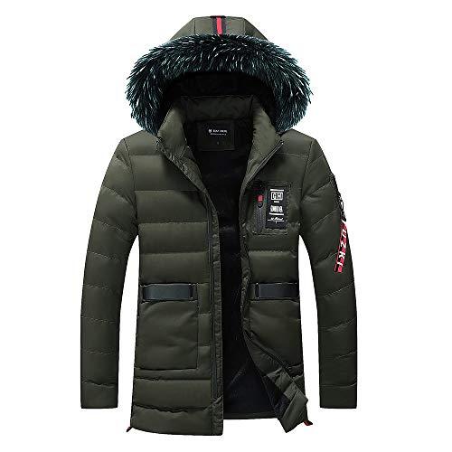 Preisvergleich Produktbild Oliviavan,Herren Herbst Winter Outwear Slim Long Trench Reißverschluss Caps Hoodies Sweatshirt Tops Jacke Männer Mantel Abnutzung Daunenjacke Outdoor Skijacke