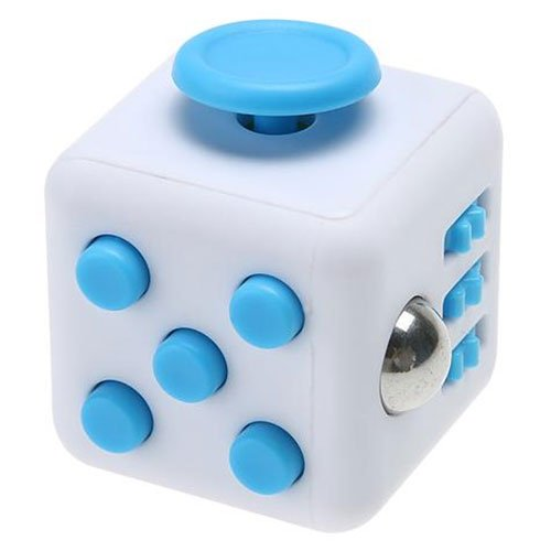 Fidget Cube original | blanco y azul