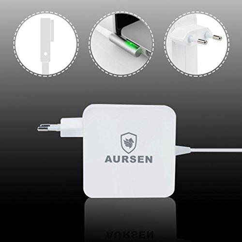 Aursen® 60W Magsafe Power Adapter, 60W Magsafe Netzteil Ladegerät L-Form Kompatibel mit Modell A1344/A1330/A1342/A1278/A1185/A1184/A1181