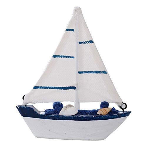 Carry stone 1 STÜCK Retro Segeln Modell Mittelmeer Holz Segelboot Desktop Ornamente Fotografie Requisiten Miniatur Landschaft für Hauptdekoration Langlebig und Praktisch