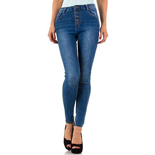 High Waist Skinny Jeans Für Damen bei Ital-Design Blau
