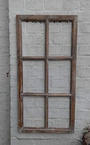 Deko-Impression Fenster Sprossenfenster Bilderrahmen Wanddekoration Holz braun 85 x 43