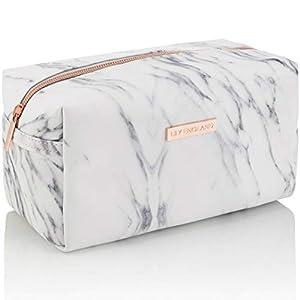 Lily England Kosmetiktasche & Mäppchen Marmor - Make Up Bag Schminktasche, Kosmetik Reise Kulturbeutel & Federmäppchen Täschchen mit Reißverschluss