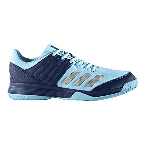 adidas Ligra 5, Chaussures de Volleyball Mixte Adulte Bleu (Mystery Ink/silver Metallic/footwear White)