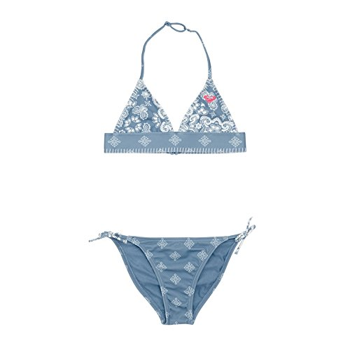 Roxy Mädchen NA SU FT ST G BKQ6 Two Piece, Blue Shadow-Pattern_1, 12 (Roxy-bikini Für Kinder)
