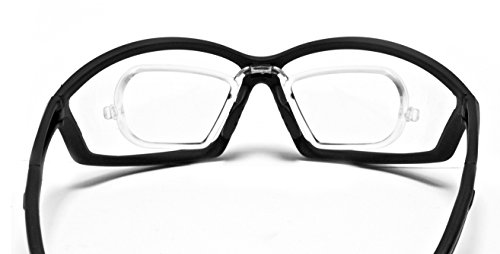 Bertoni Sportbrille Sehstärke mit Adapter für brillenträger für Radsport Motorrad Ski Golf Lauf Running - by Italy AF100 (Trasparent) - Windschutz für Brillenträger