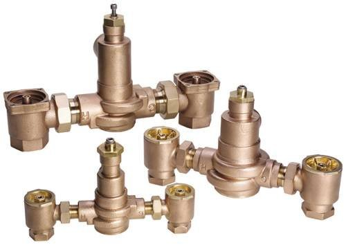 POWERS PROCESS CONTROLS LFMM431-1 Thermostatic Mixing Valve, 3/4 x 3/4, Rough Bronze by Powers Process Controls -