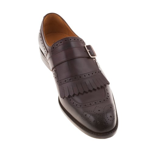 John Spencer 10911 603 da uomo, colore: Marrone scuro, prima parte Bucklet-Scarpe Brogue da uomo, in pelle Marrone (marrone)