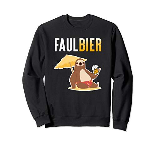 Lustiges Faulbier Faultier Bier Trinken Sweatshirt -