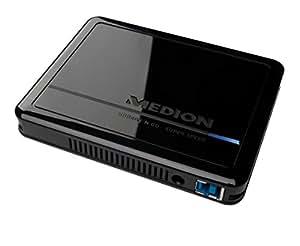 """MEDION mD 90174) hDDrive-n-go (2,5 """") pour disques durs externes, 1000GB, 1 to uSB 3.0, mémoire cache 32 mo, noir"""