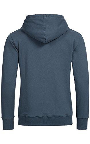 Banqert Herren Hoody, FAIRE Löhne, Purified Cotton, Männer Hoodie-s Kapuzenjacke-n Kapuzen-sweater mit Reissverschluss Men, Dunkelblau Blau S Small - 2