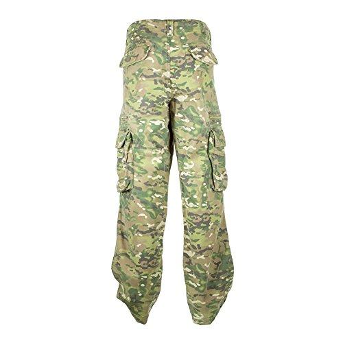 Sizeups Cargohose für Herren 52008 - 100% Baumwolle, Premium Qualität Armee-Kampf-Hosen Fleck Camo