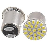 TOOGOO (R) Bianco 3020 SMD 22 LED T25 BAY15D 1157 P21/5W frena coda lampada della luce