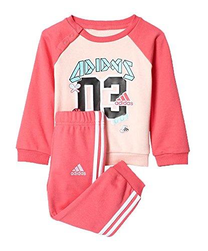 adidas Kinder I Sp Terry Jog Trainingsanzug, Pink/Roshel/Supros, Size 86