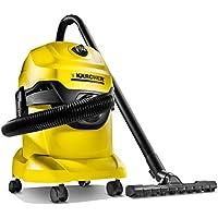 Kärcher WD4 - Aspirador multiuso, boquilla para aspiración en seco y húmedo, depósito 20 l, 1000 W, 220-240 V